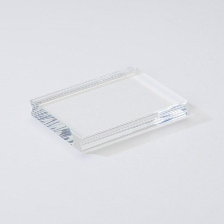 Bloc acrylique pour tampon clear - 10x7,5 cm