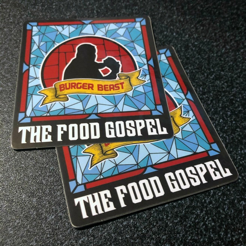 Burger Beast: The Food Gospel Sticker