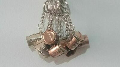 Copper drum keychains