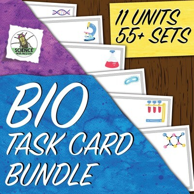 Biology Task Card Bundle