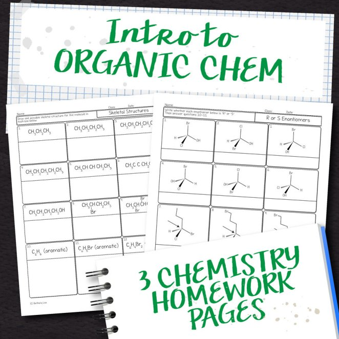 Chemistry Unit 17: Intro to Organic Chem Homework Pages