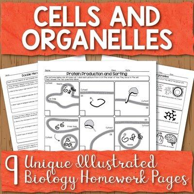 Cells and Organelles Homework Unit