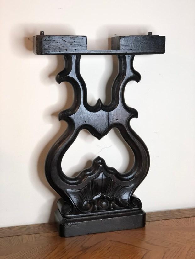 Repurposed Antique Piano Leg, Architectural Salvage