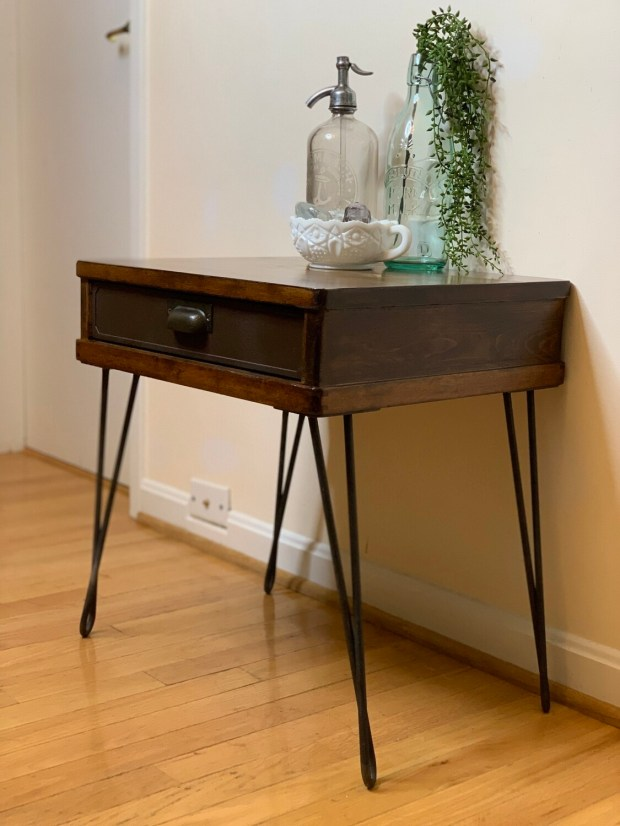 Vintage End Table, Re-purposed Antique, Nightstand