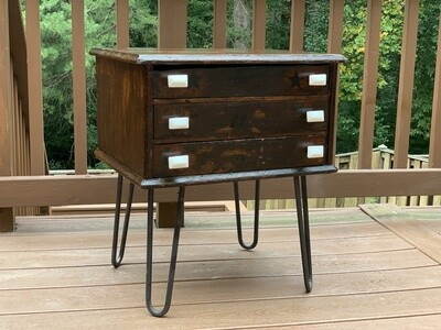 End Table, Antique Spool Cabinet, Night Stand