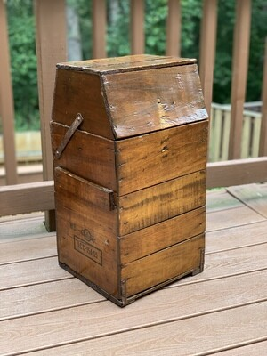 Antique Box, Vintage Storage, Small End Table