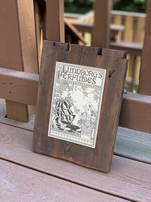 Vintage Wall Art, Vintage Advertising, Reclaimed Wood