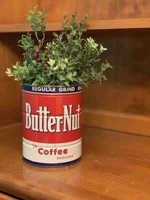 Vintage Christmas Decor, Christmas Planter