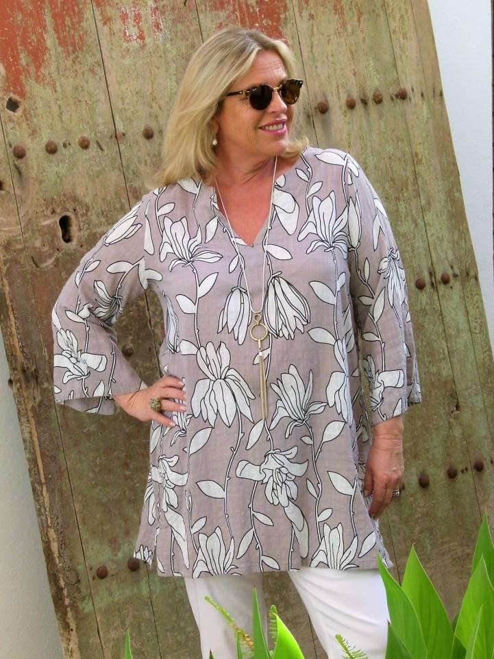 Tarka - Floral print kaftan tunic