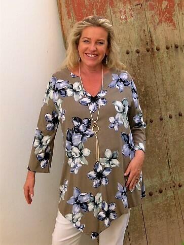 Torie - Floral print Kaftan tunic