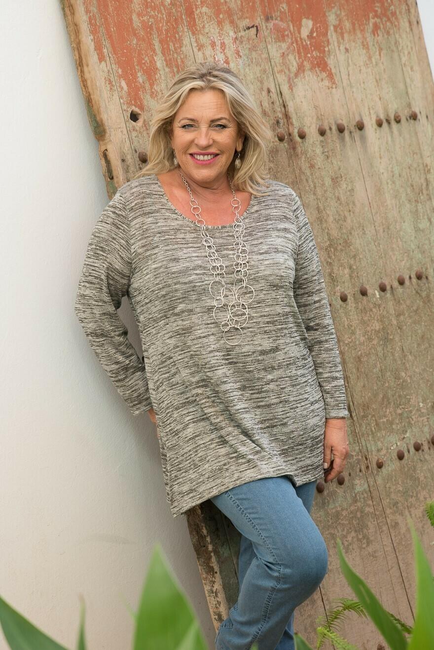 Kristina - Knitted Top - Natural Oak Marl