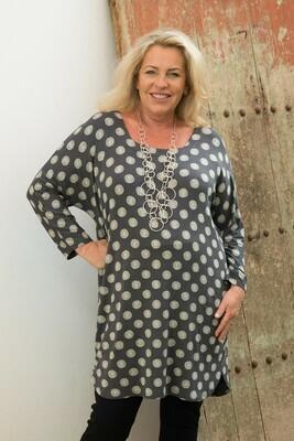 Tamara Jersey tunic - Slate
