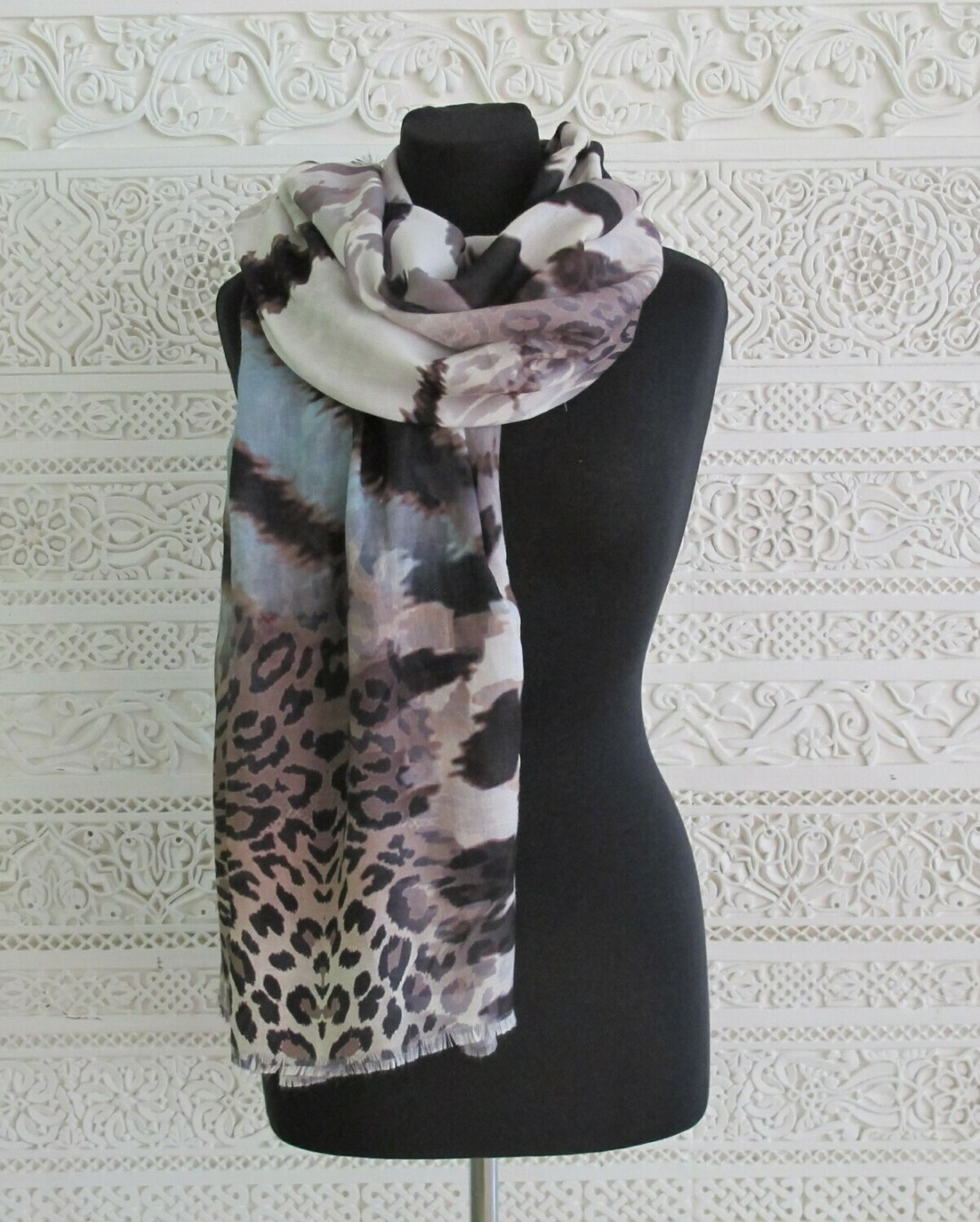 Sabri - Abstract Animal Print Scarf