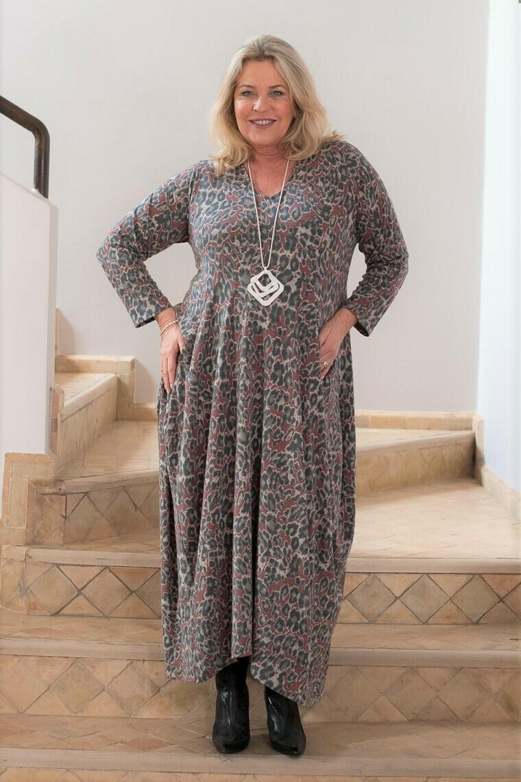 Remi - Leopard Print Harem Dress