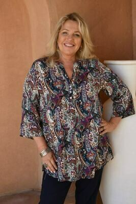 Tomika - Paisley print tunic top