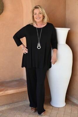 Paloma - Black Jersey long Trousers