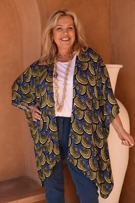 Keyah - Vibrant Fan print Loose fit Jacket - one size