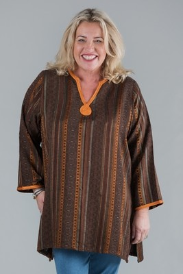 Takoda - Long sleeved Kaftan Top