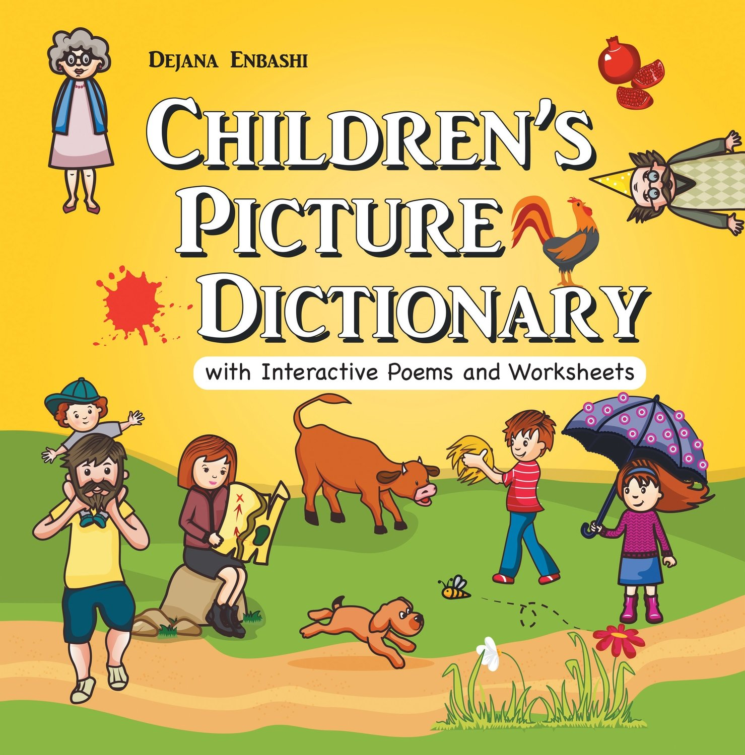 Children's Picture Dictionary with Interactive Poems and Worksheets (Hardcover)