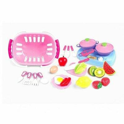 Набор продуктов для резки с посудой, 24 пред.НАША ИГРУШКА  WD-Q06