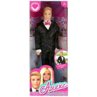 Кукла Алекс в костюме жениха 29см. Карапуз 99097-SA-AN