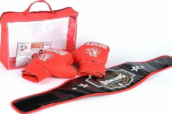 Боксерский набор (перчатки + пояс победителя), 21559
