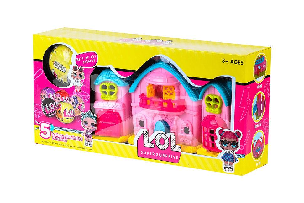 Домик Розовый для кукол ЛОЛ 89005