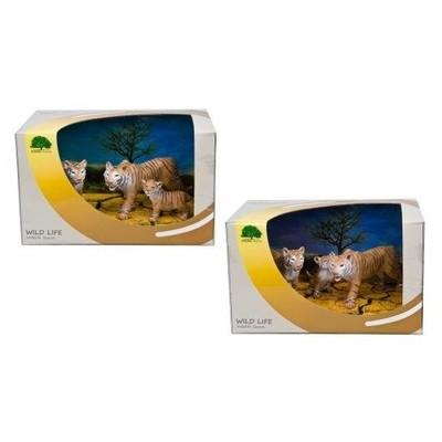 Набор животных Семейство тигров 3шт. Wildlife season WS1404A/B