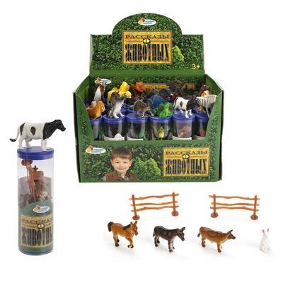 Набор животных 20см в тубе Играем вместе HDH2522AF