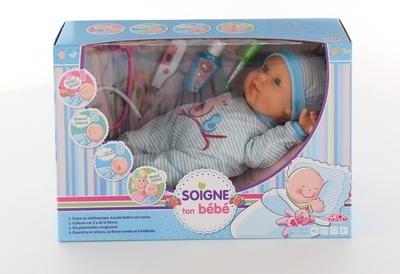 Кукла пупс озвученный Полесье 50305 с набором доктора