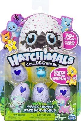 Hatchimals Коллекционная фигурка 4 шт + бонус
