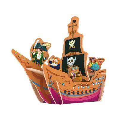 Деревянный 3D пазл Pirate Ship 23 детали ROBOTIME E201 E201