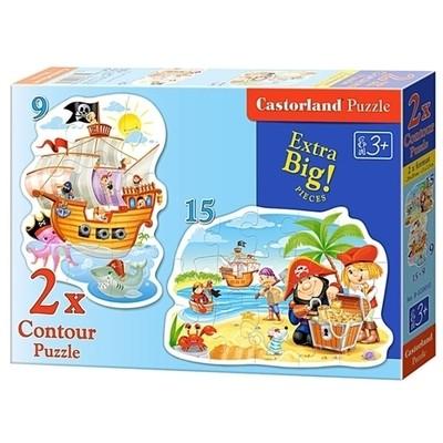 Пазл Castorland Пиратские сокровища 2-в-1 B-020010