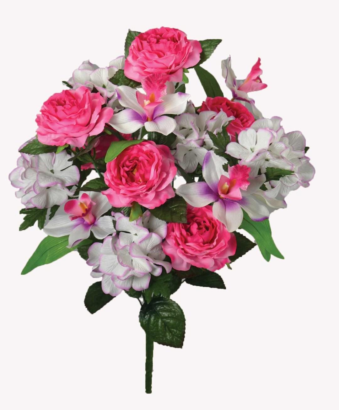 "SB3501PK - 21"" Large Rose/Hydrangea Orchid Bush x 18 $8.95 SB3501PK"