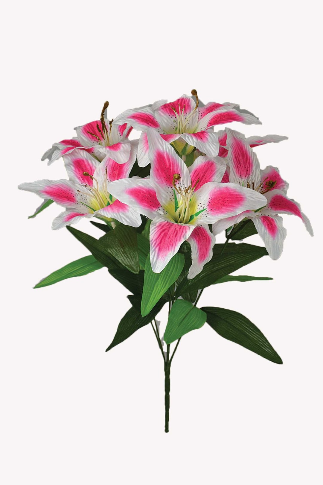 "SB1067PINK - 18"" Lilly Bush x 6 (Pink and White) $3.75 SB1067PINK"