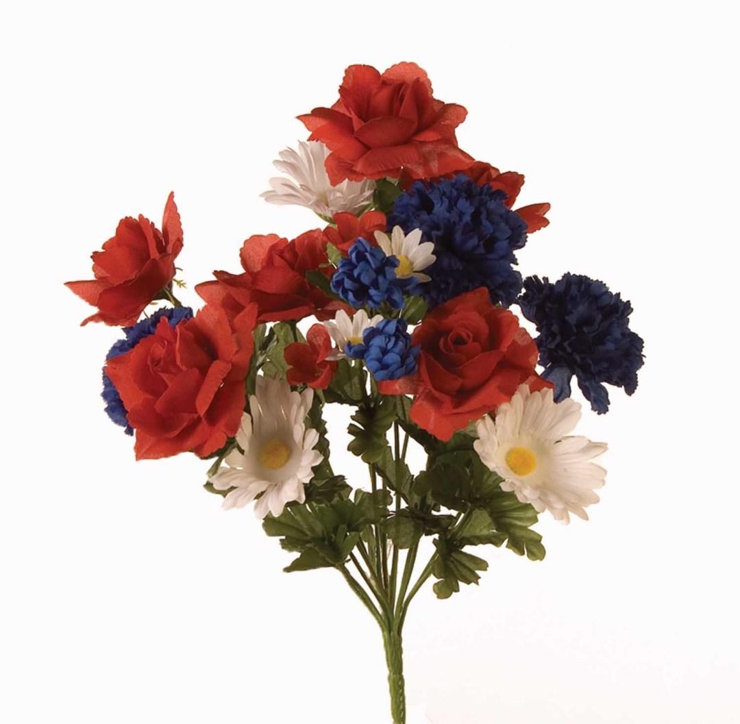 SB7021RWB - RWB Rose / Carnation / Gerber Mix x14 $3.25 each SB7021RWB - RWB