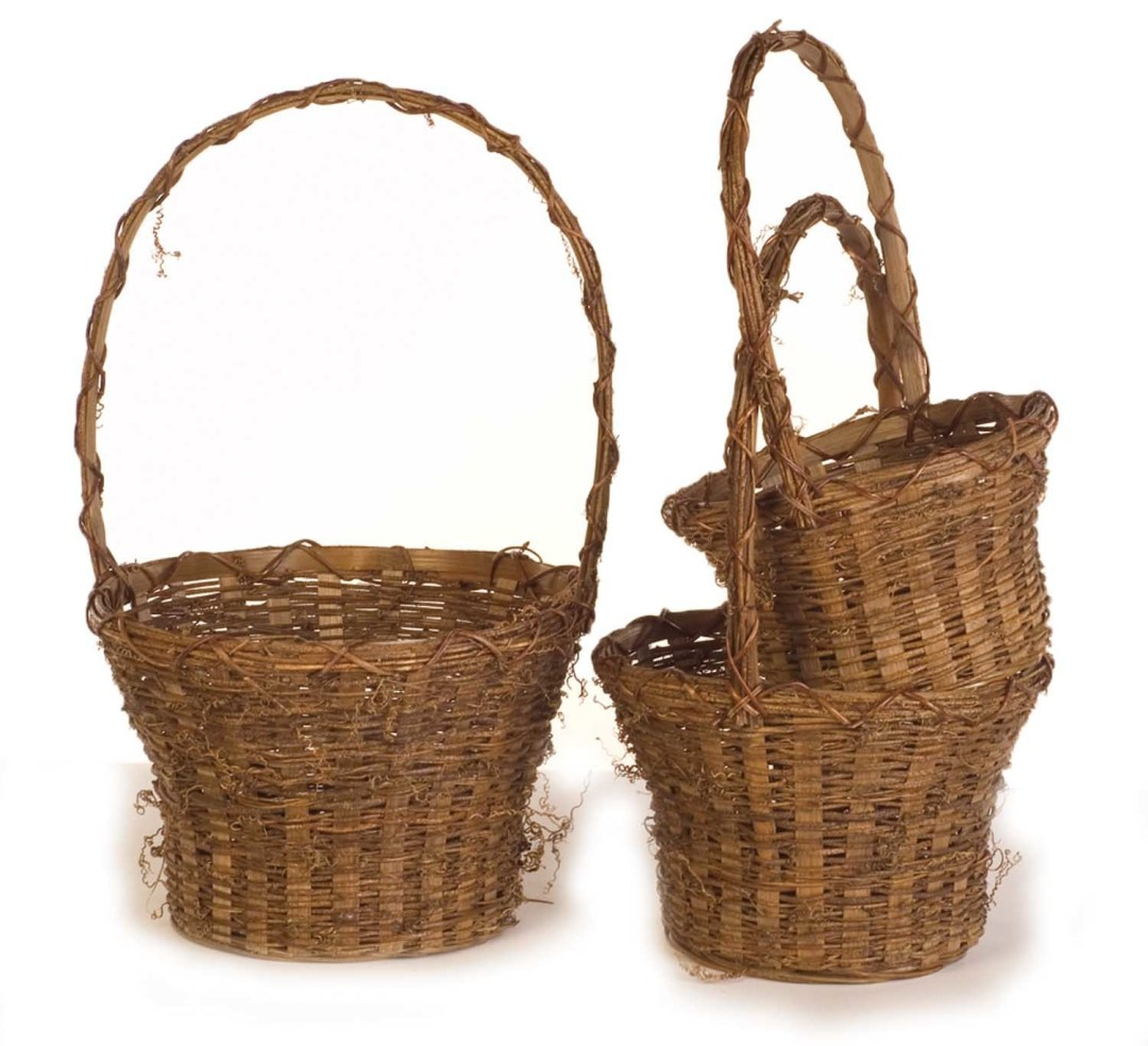 "MS1163 - S/3 Vine 8""-10""-12"" Pot Basket $16.50 each W/L MS1163"