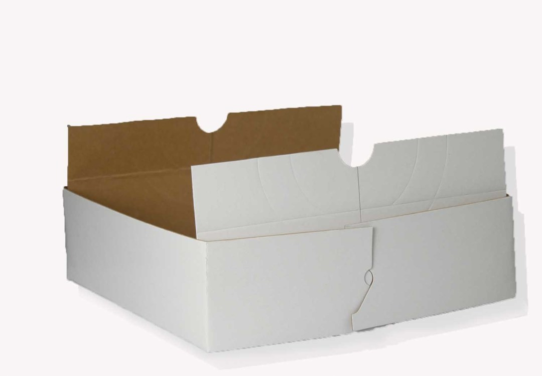 "BX003 - 10"" X 10"" X 3"" Wax Bottom Thin Cardboard Box 100 pc/box $98.95 BX003"