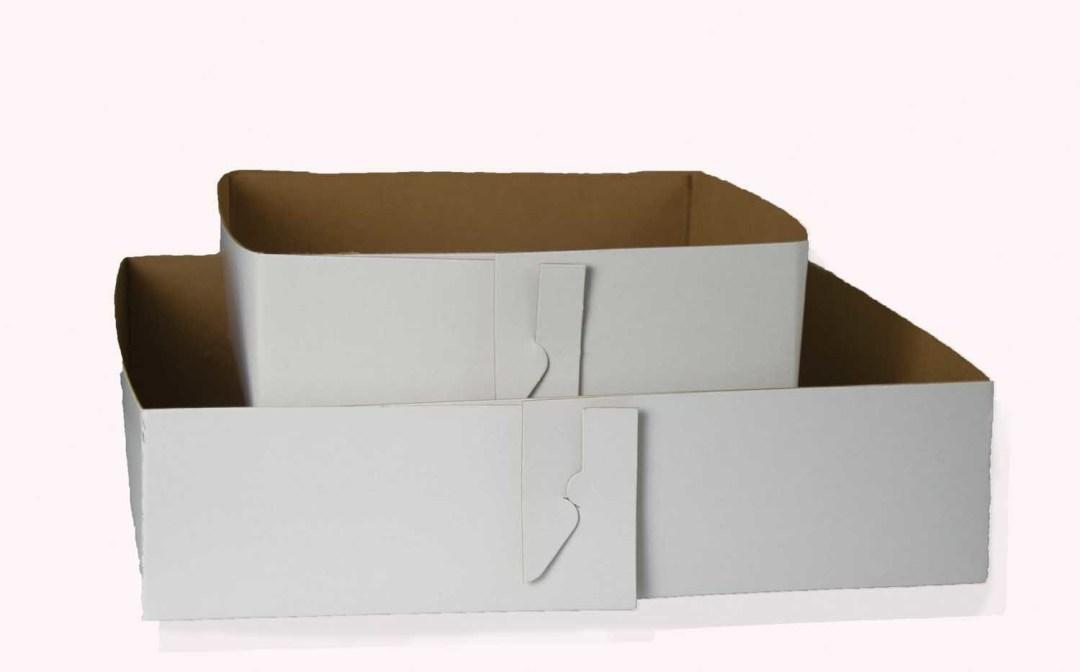 "BX002 - 8"" X 8"" X 3"" Wax Bottom Thin Cardboard Box 100 Pc/box $72.95 BX002"
