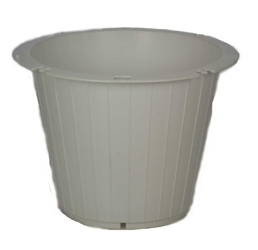 """PL8015WT - 8.25"""" Wide x7.25"""" Plastic Pot $89.95 per box PL8015WT"""