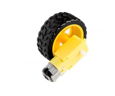 Kit Motor reductor + Roata plastic cu cauciuc