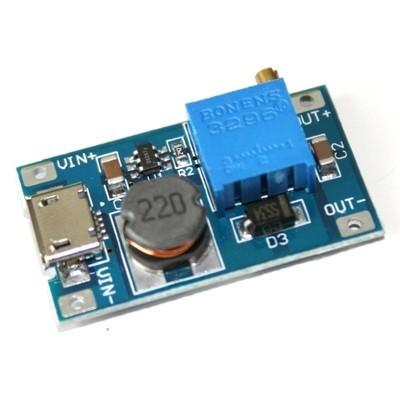 Modul ridicator tensiune cu micro USB 2-24V MT3608