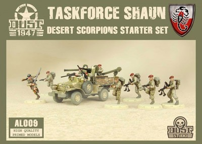 Dust 1947-Taskforce Shaun Desert Scorpions Starter Set