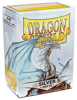Dragon Shield Sleeves Matte Silver