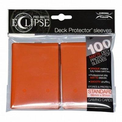 Ultra Pro Eclipse Standard Sleeves Matte Pumpkin Orange