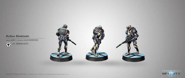 Infinity: ALEPH Agma Marksmen (Multi Sniper)