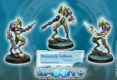 Infinity: Combined Army Sabotage and Destruction Unit Caliban (Feuerbach)