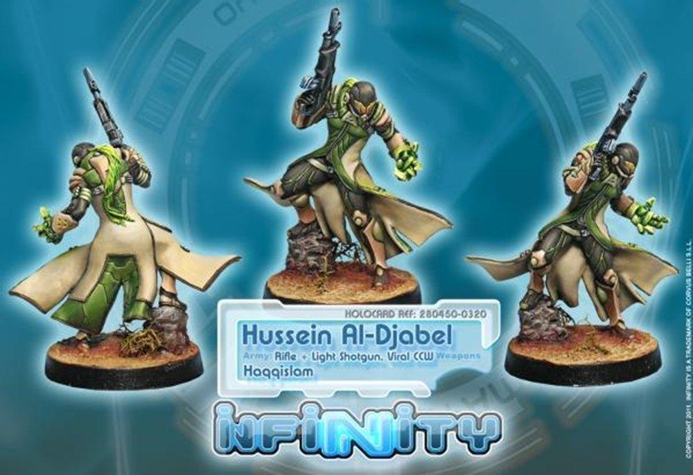 Infinity: Haqqislam Hussein Al-Djabel, Hassassin Fiday (Rifle + Light Shotgun, Viral CCW)