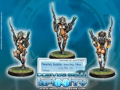 Infinity: Tohaa Neema Saatar, Ectros Regiment Officer (Combi Rifle, Light RL) - Special Character