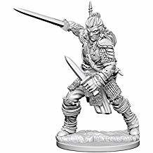 Pathfinder Deep Cuts Unpainted Miniatures: Human Male Fighter
